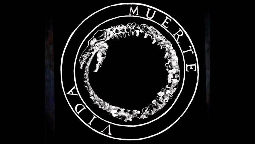 círculo con muerte y vida escritos