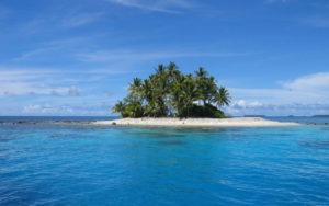 isla de descanso en medio del mar