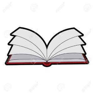 dibujo de libro abierto