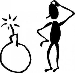dibujo esquemático de persona pensando cómo enfocar una idea.